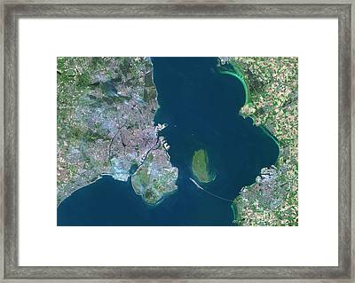 Copenhagen And Malmo Framed Print by Planetobserver