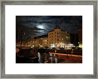 Copenhagen At Night Framed Print