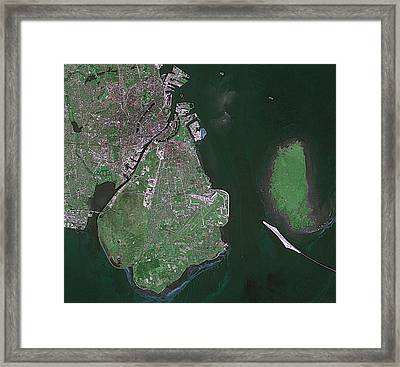 Copenhagen Framed Print by European Space Agency/cnes, Spot Image
