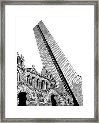 Copley Square Framed Print by Conor Plunkett