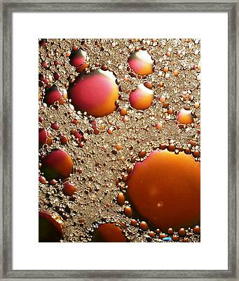 Copper And Tin Framed Print