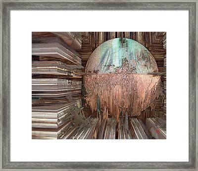 Copper Ball Framed Print by David Jenkins