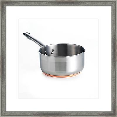 Copper-based Saucepan Framed Print