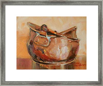 Copper Bowl Framed Print by Ron Wilson
