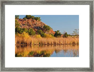 Copper Breaks State Park In Autumn Framed Print