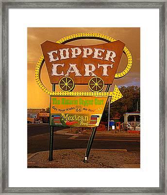 Copper Cart Framed Print by Ron Regalado
