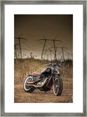Copper Chopper Framed Print