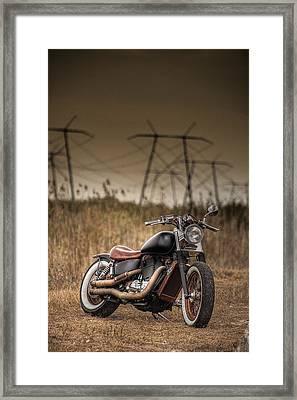 Copper Chopper Framed Print by Bradley R Youngberg