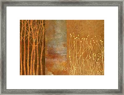 Copper Collage Framed Print by Cora Niele