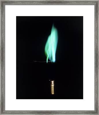 Copper Compound Burning Framed Print