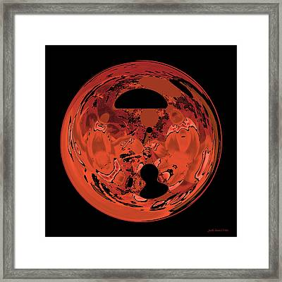Copper Disk Abstract Framed Print