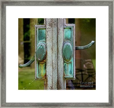 Copper Doorknobs Framed Print