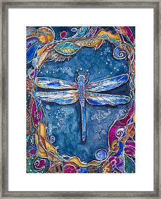 Copper Dragonfly Framed Print by Patricia Allingham Carlson