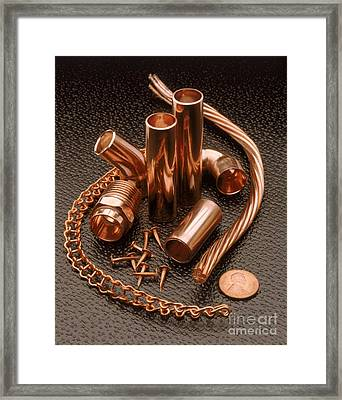 Copper Framed Print by Erich Schrempp