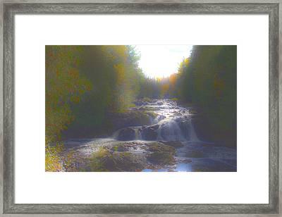Copper Falls Framed Print by Jim Baker