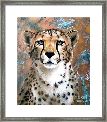 Copper Flash - Cheetah Framed Print by Sandi Baker