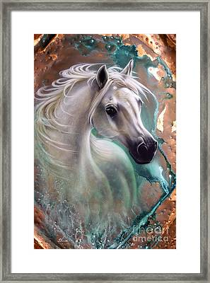 Copper Grace - Horse Framed Print by Sandi Baker