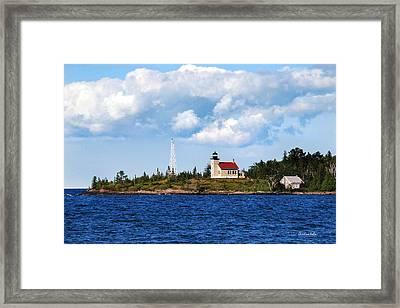 Copper Harbor Lighthouse Framed Print by Christina Rollo