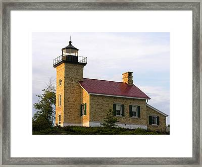 Copper Harbor Michigan Lighthouse Framed Print