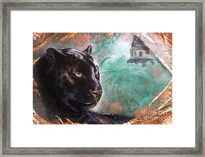 Copper Jaguar Framed Print