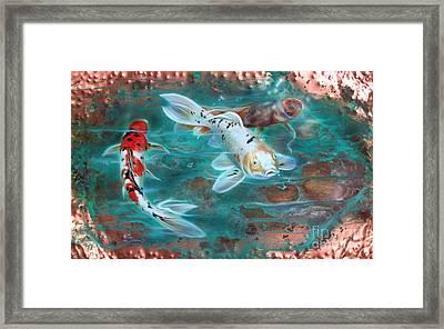 Copper Koi Framed Print by Sandi Baker