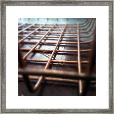 Copper On Wood Framed Print by Jaime Neo