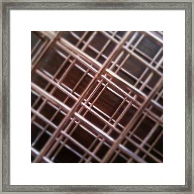 Copper Plaid Framed Print by Jaime Neo