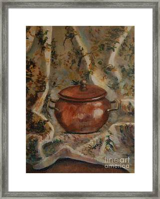 Copper Pot Framed Print by Jana Baker