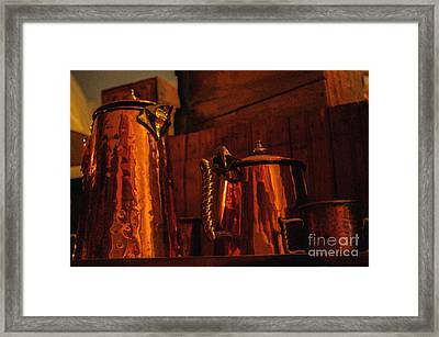Copper Pots Framed Print by Tikvah's Hope