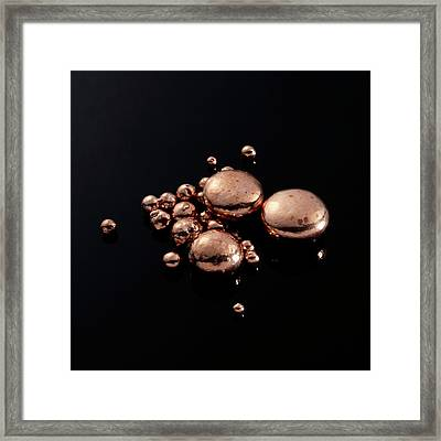 Copper Framed Print by Science Photo Library