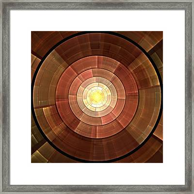 Copper Shield Framed Print