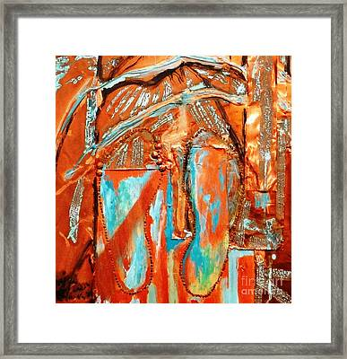 Framed Print featuring the painting Broken In Shoes by Ecinja Art Works