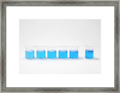 Copper Sulphate Solutions Framed Print by Trevor Clifford Photography