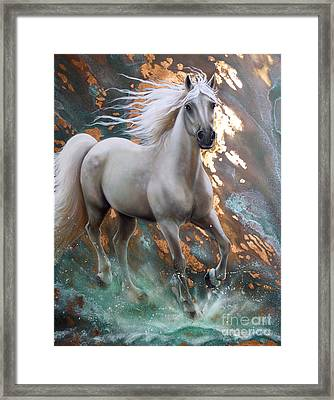 Copper Sundancer - Horse Framed Print by Sandi Baker