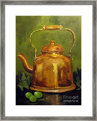 Copper Teakettle Framed Print