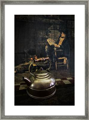 Copper Teapot Framed Print by Debra and Dave Vanderlaan