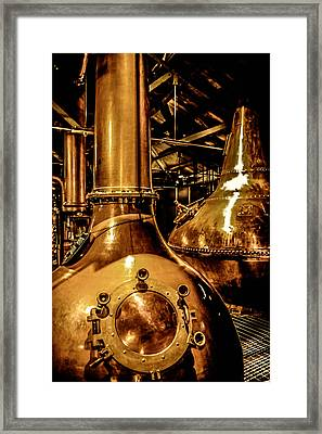Copper Workplace Framed Print