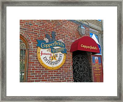 Copperfields Framed Print by Barbara McDevitt