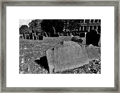 Copp's Hill Burying Ground Framed Print