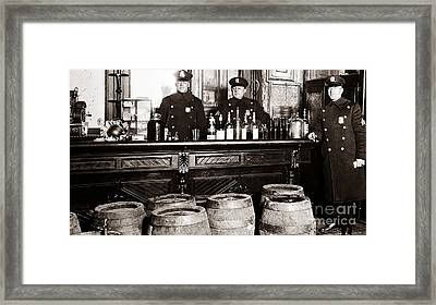 Cops At The Bar Framed Print by Jon Neidert
