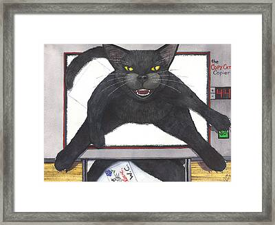 Copy Cat Framed Print by Catherine G McElroy