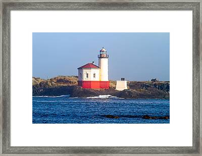 Coquille Lighthouse Framed Print