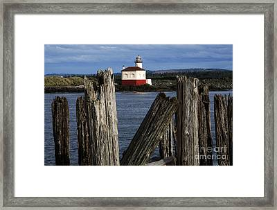 Coquille River Lighthouse Oregon 1 Framed Print by Bob Christopher