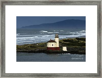 Coquille River Lighthouse Oregon 2 Framed Print by Bob Christopher