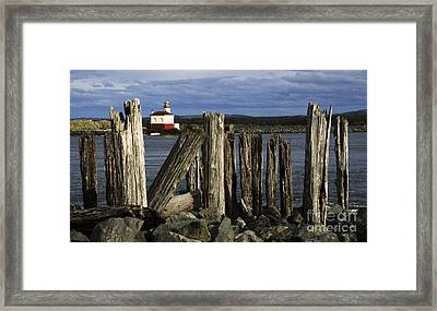 Coquille Lighthouse Oregon 3 Framed Print by Bob Christopher