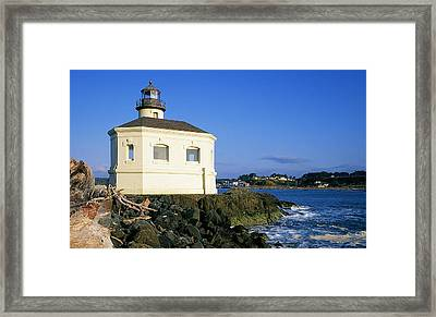 Coquille River Light Framed Print by Buddy Mays