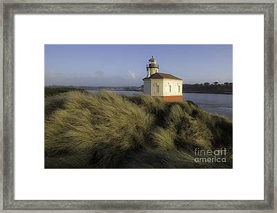 Coquille River Light House Framed Print