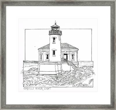 Coquille River Light Framed Print