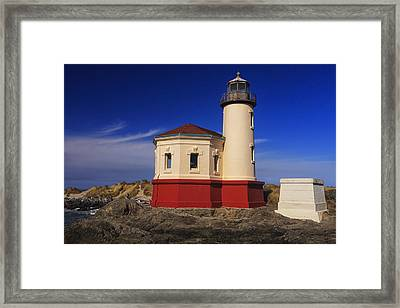 Coquille River Lighthouse 2 Framed Print by Mark Kiver