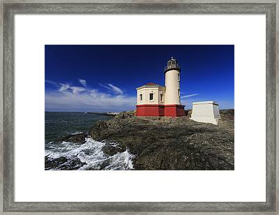 Coquille River Lighthouse 3 Framed Print by Mark Kiver